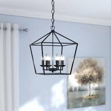full size of 6 light ceiling black led lamp with cage shade roset chrome effect
