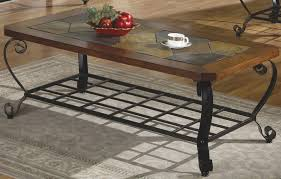 coffee table appealing iron and wood coffee table coffee table sets with stone table top