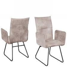 Stuhl Arona 5015 26 Esszimmerstuhl Armlehnstuhl Stoff Metall Küchenstuhl