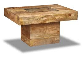 mango light small pebble coffee table solid wood furniture