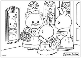 Color Sylvanian Families Get Coloring Pages