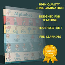 6 Educational Laminated Poster Teaching Charts For