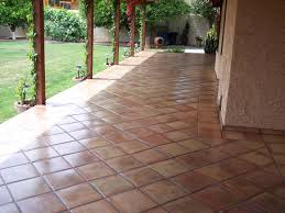 beautiful mexican tile patio yard after professional cleaning and sealing in tempe arizona