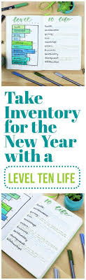 Take Inventory For The New Year With The Level Ten Life Pinterest