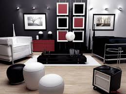 ... Red Furniture Elegant Black White Living Room Ideas Round Leather  Ottoman Grey Stainless Steel Frame Arms Chair Beige ...