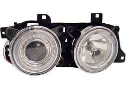 glass lens depo 88 95 bmw e32 e34 angel eye halo ring projector Bmw E34 Headlight Wiring hl b5 e34 dp a chr bmw e34 headlight wiring