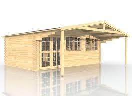Gartenhaus Aus Holz Mit Vordach 600x400 403911