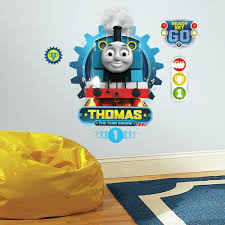 RoomMates 5 in. x 19 in. Thomas the Tank Engine 4-Piece Peel and ...