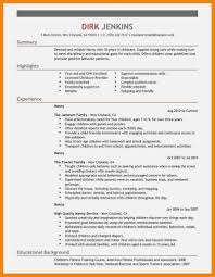 Babysitter Bio Example 15 Questions To Ask At Nanny Form And Resume Template Ideas