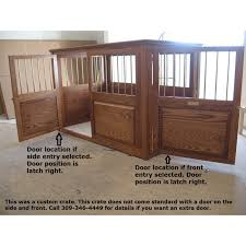 wood dog crates furniture. 2 door custom wooden dog crate example wood crates furniture