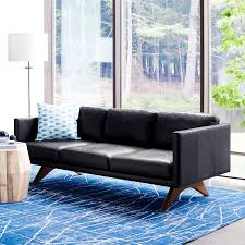 Brooklyn Down-Filled Leather Sofa (81