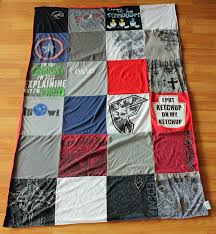 Project Repat T-Shirt Quilt Blanket Preserving Memories & Both my son and I absolutely love this blanket. The backing is nice and  soft and very comfortable and my son's only complaint was he wished it was  bigger so ... Adamdwight.com