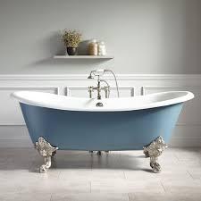 Blue Bathtub 72 Lena Cast Iron Clawfoot Tub Monarch Imperial Feet Slate 6409 by guidejewelry.us