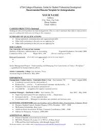 Undergraduate Resume Template Word Undergraduate Resume Template Word ...