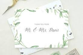 Wedding Thank You Notes Amazon Com Wedding Thank You Cards Personalized Shower Thank You