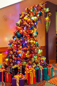 Bent and colorful Christmas tree..I adore this!
