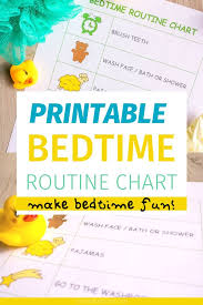 Editable Bedtime Routine Chart A Simple Bedtime Routine Chart Printable To Make Night Time