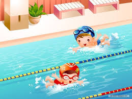 Image result for children swimming cartoon
