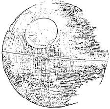 Small Picture Death Star Coloring Sketch Coloring Page