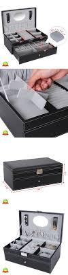 watch 168164 mens watch storage box large leather case jewelry watch 168164 mens watch storage box large leather case jewelry organizer tray 6 slot lock