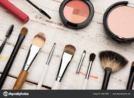 brushes and decorative cosmetics stock photo