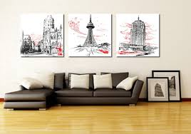 paintings for office walls. 3 Piece Canvas Art Home Decoration Wall Abstract Painting Modern Office Paris-in \u0026 Calligraphy From Garden Paintings For Walls