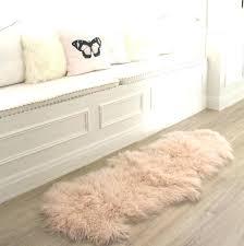blush fur rug fur floor rugs blush pink sheepskin fur floor runner rug home for fur blush fur rug machine washable faux sheepskin