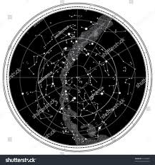 Night Sky Id Charts Celestial Map Night Sky Astronomical Chart Stock Vector
