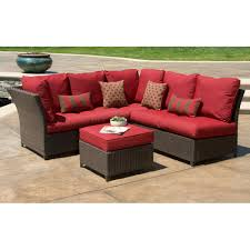 better homes and gardens rushreed 3 piece outdoor sectional sofa set red seats 5 com