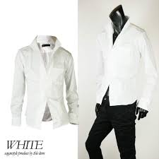 春 かっこいい モテ服 長袖 白シャツ 流行 服 メンズ おしゃれ トップス