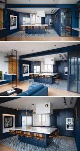 Blue Cabinets Kitchen Kitchen Design Idea Deep Blue Kitchens Contemporist