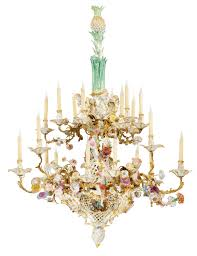 full size of rare and highly important royal rococo porcelain mountede silver chandelier chain bronze parts