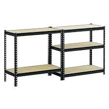 sandusky shelves black steel heavy duty 5 shelf shelving unit wire