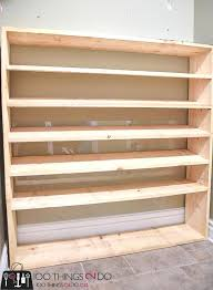 large shoe rack super sized oversized how to build a shelf in closet