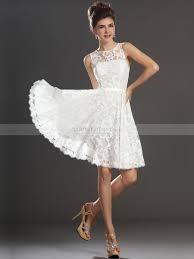 Sascha - A Linie kurzen Kleid für die Braut aus Spitze