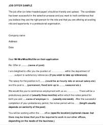 Letter To Business Template Business Offer Letter Template Business Offer Letter Template 7 Free