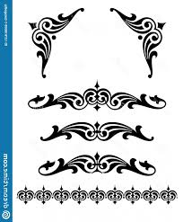 Scroll Design Images Bold Scroll Design Set Corner Pieces Vintage Designs S