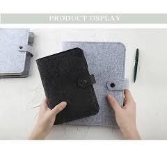 A5 A6 Felt shell fabric <b>notebook</b> Loose Leaf <b>Notebook</b> Paper ...