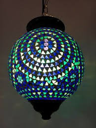 handmade glass lighting. azul mosaic lantern handmade glass lighting