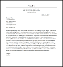Volunteer Letter Samples Volunteer Cover Letter Template Write A Cover Letter For A