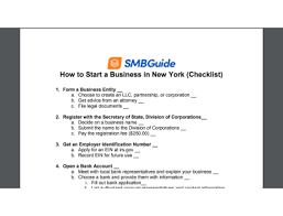Guide Start York step-by-step Business State To New How A In