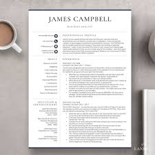 Executive Resume Template Corporate Resume Format The Campbell