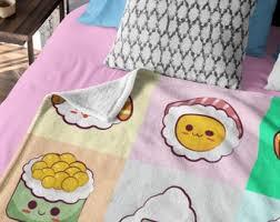 Pink plaid bedding set cute kawaii bed linen duvet cover bed sheet bed sets. Kawaii Bedding Etsy