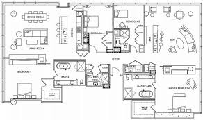 good layout example with bedrooms spread out and a bathroom between the two smaller bedrooms