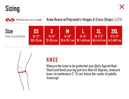 Mcdavid Knee Pads Size Chart Details About Mcdavid 429x Level 3 Knee Brace W Psii Hinges Cross Straps