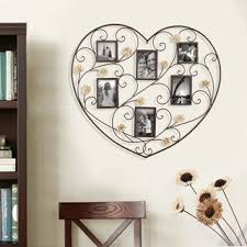 Shop Adeco Decorative Black Iron <b>Heart</b>-<b>Shape</b> 6 Opening Picture ...