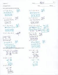 quadratic formula worksheets solving equations factoring worksheet answers quadratics captures adorable
