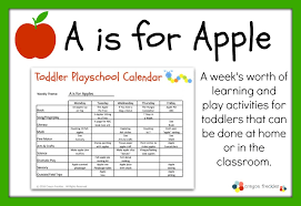 Fall Lesson Plans For Toddlers Crayon Freckles Toddler Playschool A Is For Apples Lesson Plan