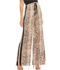 Lucy Paris Jane Snake Print Wide Track Pant