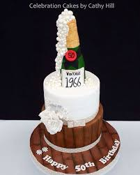 Champagne Bottle 50th Birthday Cake Party Ideas In 2019 70th